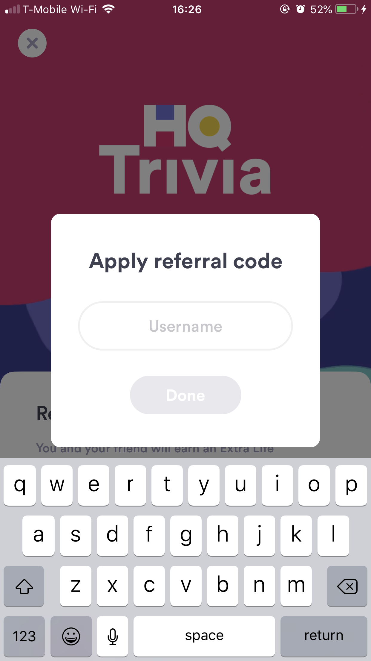 How do I add a referral code? – HQ Trivia